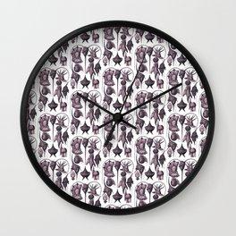 Ernst Haeckel Peridinea Fucshia Wall Clock