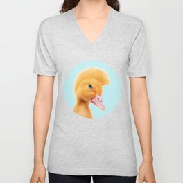 REBEL DUCKLING Unisex V-Neck