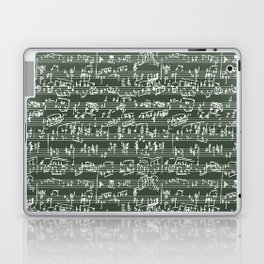 Hand Written Sheet Music // Timber Green Laptop & iPad Skin