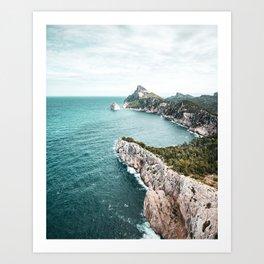 Seascape of Mallorca Poster, Spain Print, Cape Formentor, Peninsula, Nature, Landscape Photography Art Print