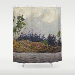 Tom Thomson - Early Morning, Georgian Bay - Canada, Canadian Oil Painting - Group of Seven Shower Curtain