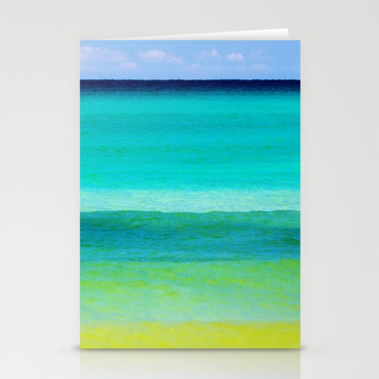 the colors of the sea Stationery Cards