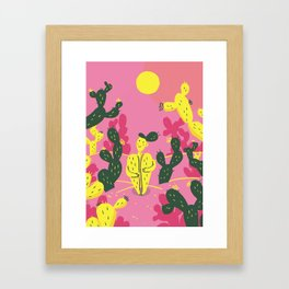 Natural Habitat Cactus Lady Framed Art Print