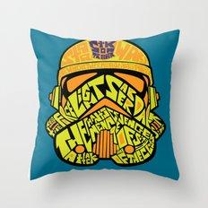 Neon Trooper. Throw Pillow