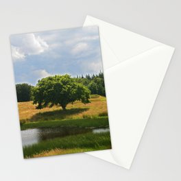 Tree Lake Sky Stationery Cards