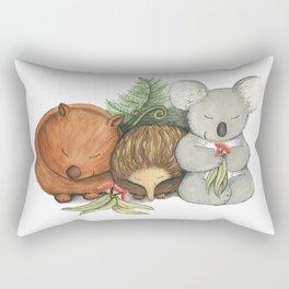 Native Australian Animal Babies – With Koala, Wombat And Echidna Rectangular Pillow