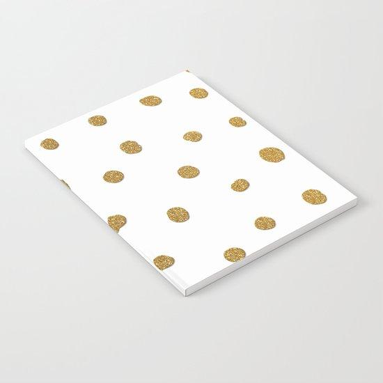 Golden touch II - Gold glitter polkadots Notebook