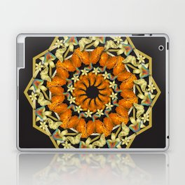 Kaleidoscope of butterflies and flowers Laptop & iPad Skin