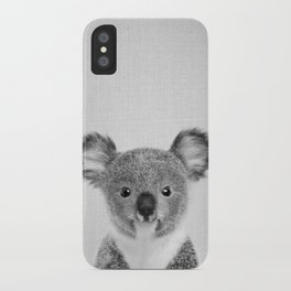 Baby Koala - Black & White iPhone Case