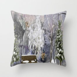 The Magic Of A Winter Day Throw Pillow