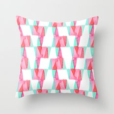 Cheery Triangles Throw Pillow