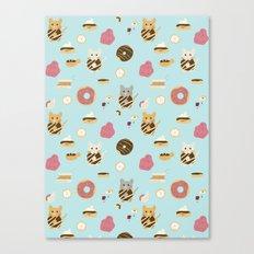 Donut Cat Canvas Print