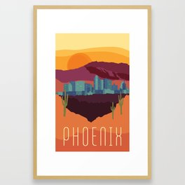 City Series - #Phoenix #Arizona #Travel #Poster Framed Art Print