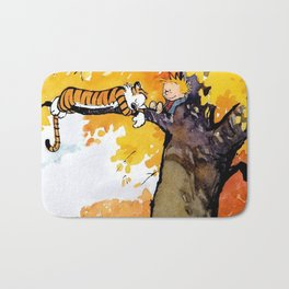 Calvin and Hobbes on the Tree huge Bath Mat
