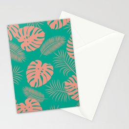 TROPICAL LEAVES 8 Stationery Cards