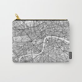 London Map White Carry-All Pouch