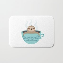 Sloth In A Cup Bath Mat