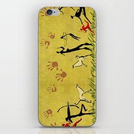 Cavemen yellow iPhone Skin