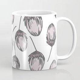 Pale Red Stem Pattern Coffee Mug
