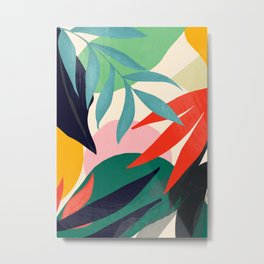 Abstract Art Tropical Leaves 42 Metal Print