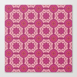 Moroccan Textured Tile Canvas Print