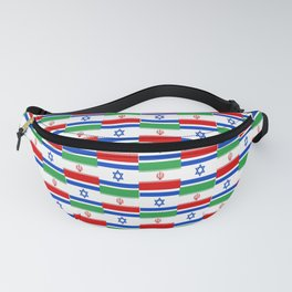 Mix of flag : Israel and Iran Fanny Pack