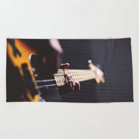 Guitarist Beach Towel