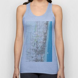 Fort Lauderdale Florida Map (1985) Unisex Tank Top