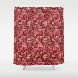 Stained Glass Red Shower Curtain