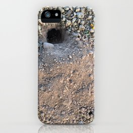 Dirt - Gopher Hole iPhone Case