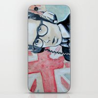 union jack iPhone & iPod Skins featuring UNION JACK by Vin Zzep