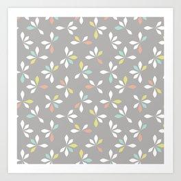loves me loves me not pattern - pastel Art Print