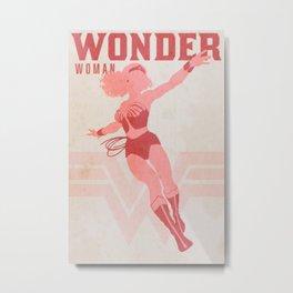 Justice Poster - Wonder Metal Print