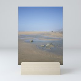 ENDLESS DESERTED BEACH SANDYMOUTH CORNWALL Mini Art Print