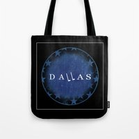 dallas Tote Bags featuring Dallas by Sally Sparkshine
