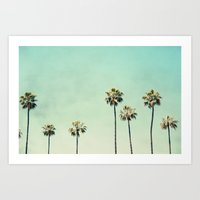 trees Art Prints featuring Palm Trees  by Bree Madden