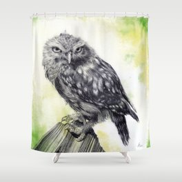 Athena Green Shower Curtain