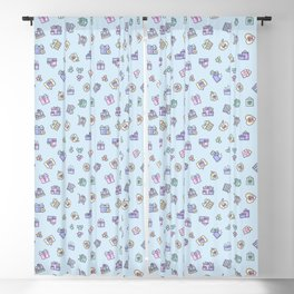 Online Shopping Icon Pattern Blackout Curtain