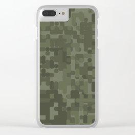 Digital Camo Clear iPhone Case