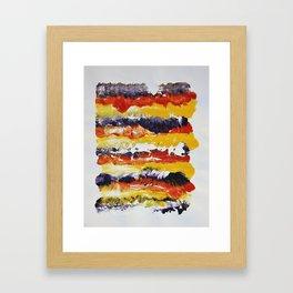 Stripes of Color Framed Art Print