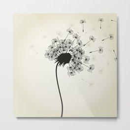 Flower a dandelion Metal Print