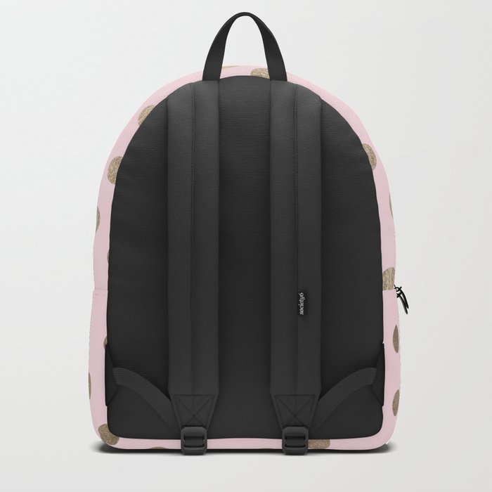 Dots White Gold Sands on Flamingo Pink Backpack