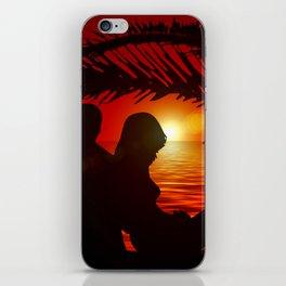 Silhouette Pair Sunset Tree Longing Love iPhone Skin