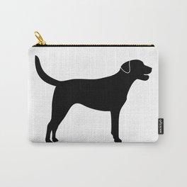 Black Labrador Retriever Silhouette #society6 #decor #buyart #artprint Carry-All Pouch