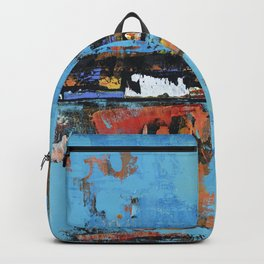 Stallion Blue Modern Painting Abstract Art Landscape Backpack