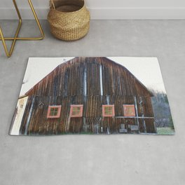 Rustic Old Country Barn Rug
