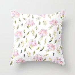 Blush Blossoms pattern Throw Pillow