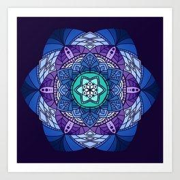 [Mandala] Cool Hues Art Print