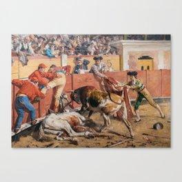 La vara rota 1892 by Arturo Michelena Canvas Print