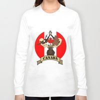 canada Long Sleeve T-shirts featuring CANADA by scarah